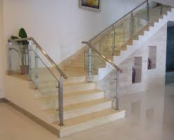 Glass Handrails For Stairs Model Staircase Stainless Glass Model Staircase Dreaded Ss