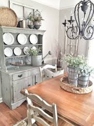 dining room painted in repose gray by sherwin williams bless