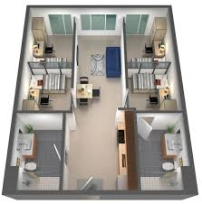 ucsb sbcc 4 bedroom 2 bath student housing with ocean view the loop type c 4 bedroom floorplan