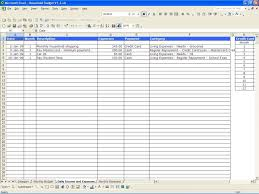 Auto Loan Spreadsheet Free Personal Income And Expenses Spreadsheet Templates Download