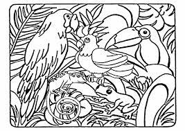 Animaux sauvages  de la jungle 2 Animaux  Coloriages à imprimer