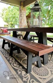 bench patio furniture pid amish made pine wood cross legged picnic