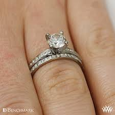 diamond wedding sets benchmark lcp1 small pave diamond wedding set whiteflash 2812