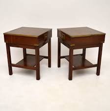 Mahogany Side Table Pair Of Antique Campaign Style Mahogany Side Tables Marylebone
