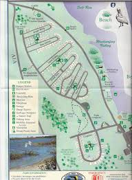 State Park Map by Campground Map Anastasia State Park St Augustine Florida
