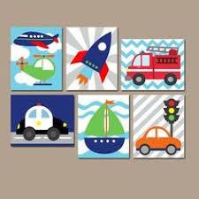 Car Nursery Decor Transportation Wall City Vehicles Theme Cars Nursery Decor
