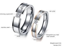 promise ring engagement ring wedding ring set titanium steel promise ring wedding bands matching set