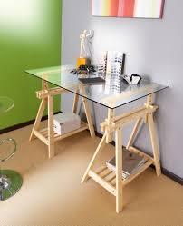 plateau verre bureau plateau bureau verre faggy bureau treteaux un monde de couleurs