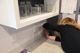 How To Install Peel And Stick Backsplash by How To Install Aspect Peel U0026 Stick Tile Backsplash Sweet Tea