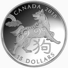 canada year of the dog features on lunar new year silver