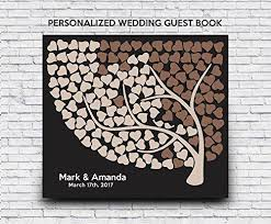 wedding guest book sign 3d wedding guest book wedding tree of hearts guest book sign