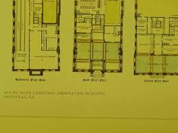 floor plans young men u0027s christian association savannah ga 1909