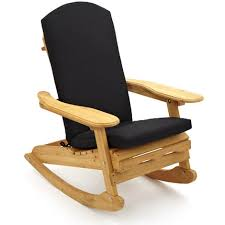 bowland adirondack garden patio wooden rocking chair cushion