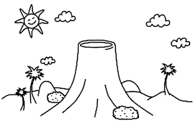 coloring pages volcano color by number dinosaur volcano coloring pages dinosaur and volcano