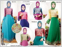 Baju Muslim Grosir gamis bordir ceruti kombinasi katun grosir gamis murah terbaru