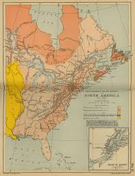 Map Of Nirth America by Of North America To 1763