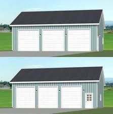 3 Car Garage Plans This Over Sized Auto Lift Garage Plan Has Ten Foot Walls With A