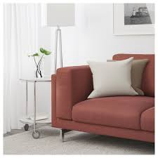 nockeby three seat sofa tallmyra rust chrome plated ikea