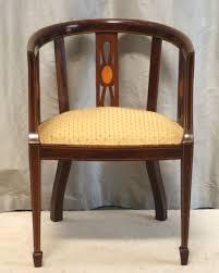 fine inlaid mahogany desk chair edwardian sold by www