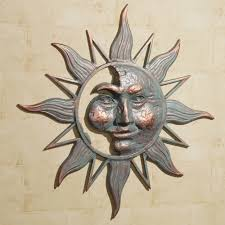 decoration garden exterior classy copper sun wall decor for