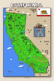 San Diego Ca Map by California Super Mario Map