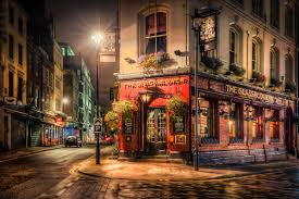 london england city by night england night cafe lamps street hd