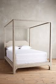 Linen Bed Frame Nailhead Linen Bed Anthropologie