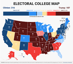 2000 Presidential Election Map by Electoral College Map Projection Trump Versus Hillary Clinton