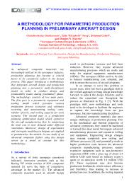 a methodology for parametric production planning in preliminary aircr u2026