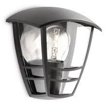 phillips outdoor lighting philips mygarden creek outdoor wall light black requires 1 x 60
