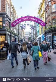 carnaby street christmas party london uk stock photo royalty free