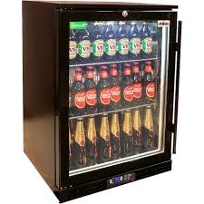 rhino black commercial glass door bar fridge rhino energy