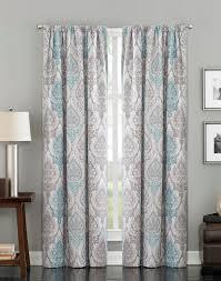 Turquoise Paisley Curtains Pendleton Paisley Damask Ikat Curtain Panel Curtainworks Com