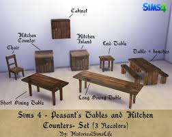 Kitchen Counter Table by Ts4 Peasant U0027s Tables And Kitchen Counters Set History Lover U0027s
