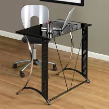 Glass And Chrome Desk Bello Glass Top Computer Desk High Gloss Black Hayneedle