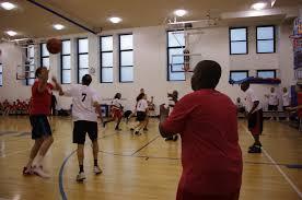 community basketball game a slam dunk manhattan country news