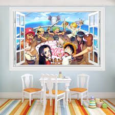 online get cheap straw hat stickers aliexpress com alibaba group new 60 90cm pvc 3d wall stickers straw hat pirate regiment anime diy poster kids rooms painting for home decorative sticker