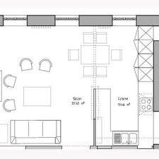 plan des cuisines plan cuisine ouverte sur salon modele de cuisines contemporaines