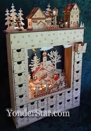wood advent calendar lighted wooden advent calendar pre order yonder christmas