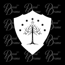 white tree of gondor shield lord of the rings inspired fan