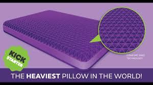purple mattress reviews the purple pillow official kickstarter video youtube