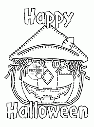 happy halloween coloring pages for kids holidays printables free