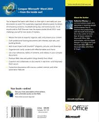 microsoft word 2010 inside out inside out microsoft amazon