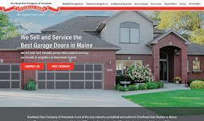 Overhead Door Bangor Maine New Website For Overhead Door Company Of Aroostook Bangor Maine