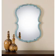 uttermost 13925 nicola light mirror in blue homeclick com