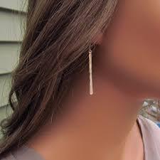 14kt gold earrings gold bar earrings hammered bar earrings 14kt gold filled bar