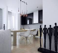 Black Kitchen Pendant Lights Room Shiny Pendant Lights Geometric Dining Table Clear Acrylic