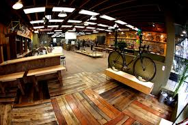 velo cult bike shop portland the floors and open space this