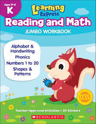 learning express reading and math jumbo workbook kindergarten