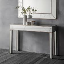Mirror Console Table Mirrored Console Table And Matching Mirror Unique Style In